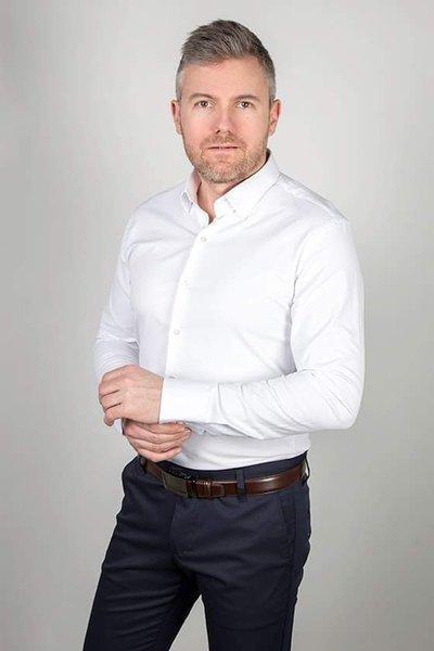 Koszula klasyczna z długim rękawem - biała