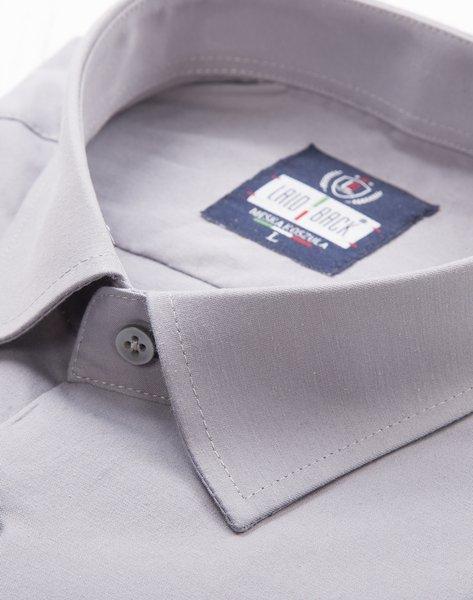 Koszula klasyczna z długim rękawem - szara