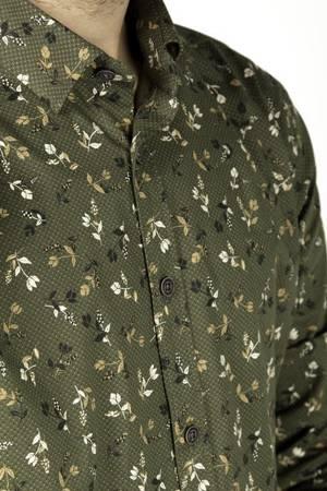 Koszula męska model GEO zielona