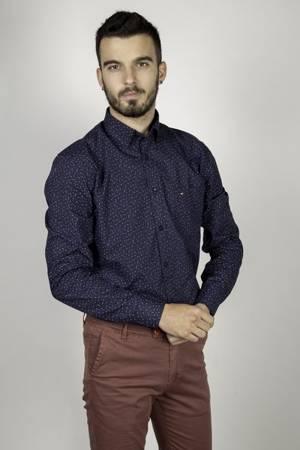 Koszula męska model TOWER granatowa