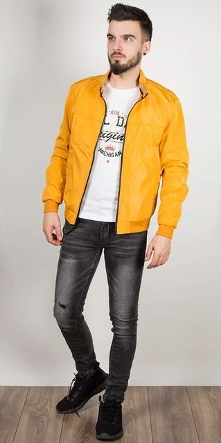 Kurtka męska, przejściowa, żółta, model 9002.