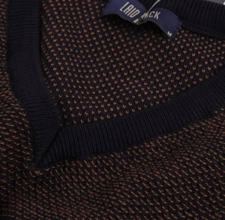 Sweter męski klasyczny Laid-Back 3185 BORDOWY