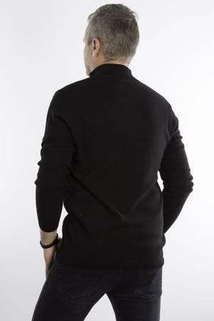 Sweter męski klasyczny z półzamkiem 5237 Czarny