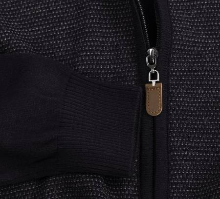 Sweter męski rozpinany Laid-Back 1171 Granatowy